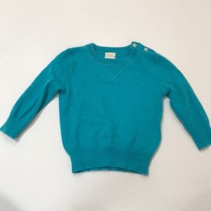 Crewcuts Blue Cashmere sweater 9-12 months